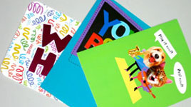 3 cards for collage raw material