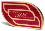 50th birthday greeting card thumbnail