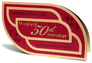 A 50th Birthday Greeting Card Thats Elegant Yet Simple To Make