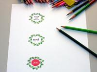 Christmas symbols card step 10