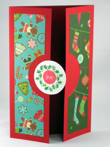 Christmas symbols card