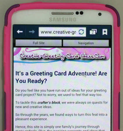 Contact us to tell us about the mobile version of the site that's now optimized for smart phones