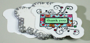 Creative thank you card making instructions step 21