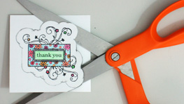 Creative thank you card making instructions step 8