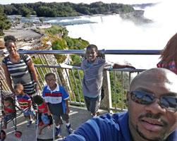 Family vacation at Niagara Falls