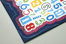 Funny birthday numbers card making instructions step 9