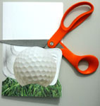 Golf birthday card making instructions step 6