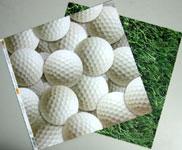 Golf birthday card materials