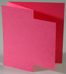 Greeting card formats - accordion with single door hybrid