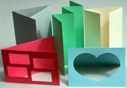 Various greeting card formats for making your own greeting card