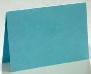 Greeting card formats - single door with landscape orientation and top fold
