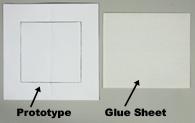 Greeting card prototypes - unique wedding invitation glue example