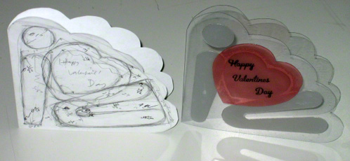 Greeting card prototypes - Valentines Day card example
