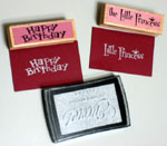Shinning Silver Lettering for Kid's birthday card