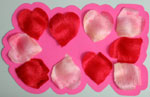 Step 4: making love card from heart shaped petals with no words on the cover