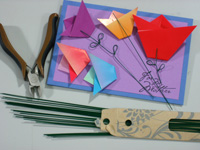 Mothers Day origami card making instructions step 16