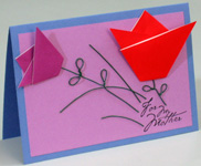 Mothers Day origami card making instructions step 18