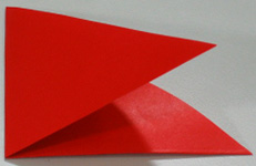 Mothers Day origami card making instructions step 2