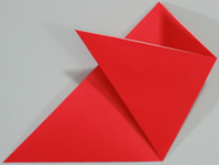 Mothers Day origami card making instructions step 4