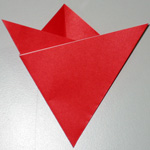Mothers Day origami card making instructions step 5