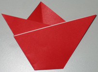 Mothers Day origami card making instructions step 7
