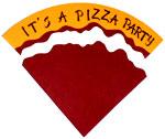 Pizza party invitation step 11