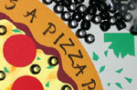 Pizza party invitation step 18