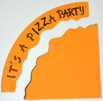 Pizza party invitation step 7