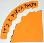 Pizza party invitation step 7