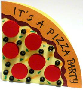 Pizza party invitation card