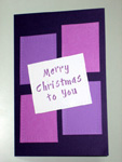 Purple Christmas card - thumbnail