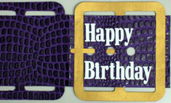 Belt-like unique birthday greeting card making instructions step 14