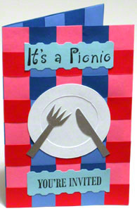 Unique picnic invitation