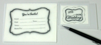 Unique wedding invitation card making instructions step 25