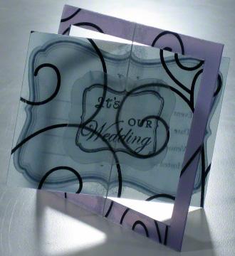 Unique wedding invitation - transparent or translucent with rotating center pin