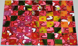 Valentine card woven from paper strips - step 7