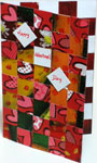Uniqe Valentine card woven from paper strips