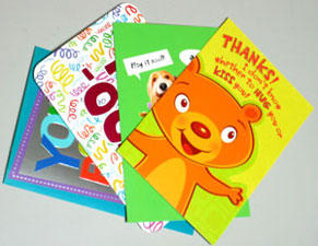 4 cards for collage raw material