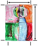 This PDF opens in a new window: template of cat in a window art for thinking of you card making instructions
