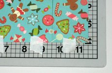 Christmas symbols card making instructions step 2