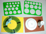 Circle cutter template and chinaware