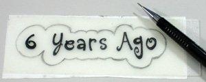 Creative silver 6th year wedding anniversary card making step