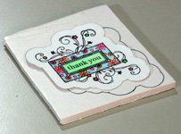 Creative thank you card making instructions step 16