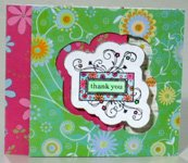 Creative thank you card making instructions step 23