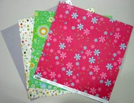 Card making materials for creative thank you card with 3 page hybrid fold