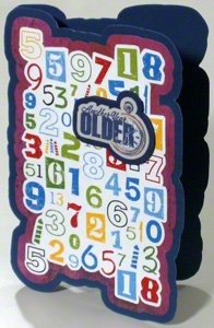 Funny birthday card with creative message and numbers
