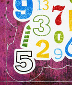 Funny birthday numbers card making instructions step 4