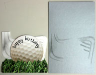 Golf birthday card making tips and tricks 4