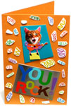 Greeting card collage made from old greeting cards - thumbnail