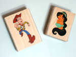 Rubber stamps with cartoon characters for kids birthday cards